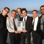 with Sean Meehan, Joe Mantello, Taylor Kitsch, Frank DeJulio, Mark Ruffalo, & Jonathan Groff (pictured)