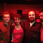 with Sean Meehan, Frank DeJulio, & Adam B. Shapiroon set at Terminal 5, NYC